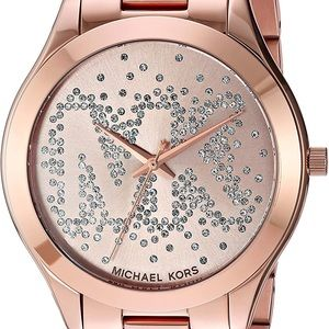 Michael Kors Woman's Slim Runway Rose -Gold Watch